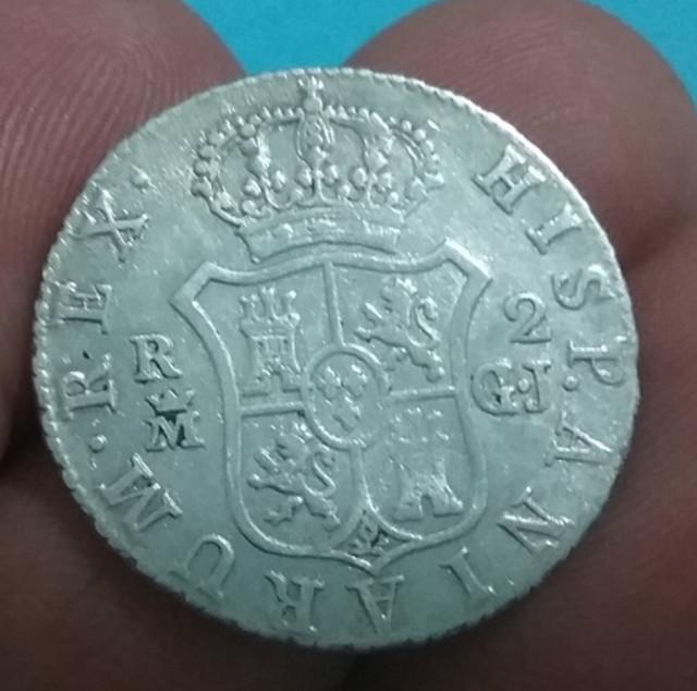 2 Reales de Fernando VII, de 1813. Madrid. Busto desnudo. FD0-C15-B4-09-DA-4350-A5-A7-2-C689-BFFA3-BB
