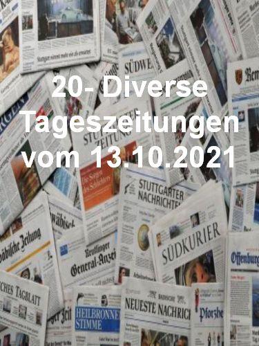Cover: 20- Diverse Tageszeitungen vom 13  Oktober 2021