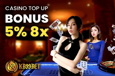 5% Casino Top Up Bonus