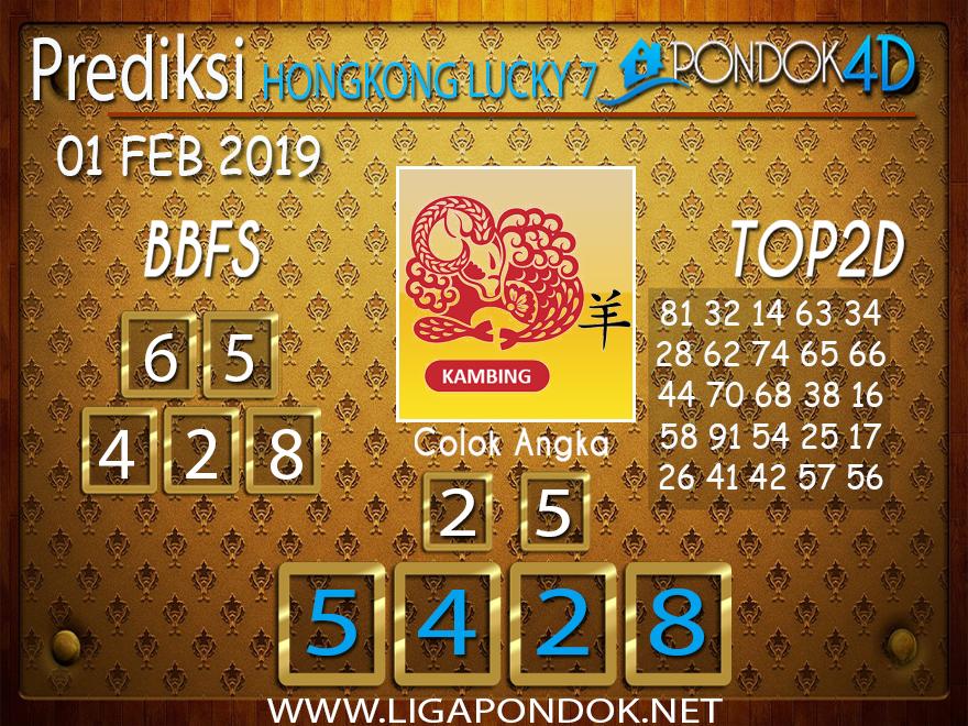Prediksi Togel HONGKONG LUCKY7 PONDOK4D 01 FEBRUARI 2019