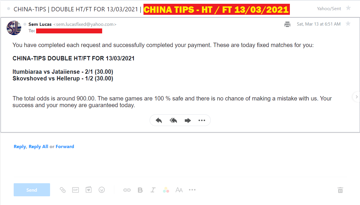 DOUBLE HT / FT FIXED MATCHES | CHINA TIPS