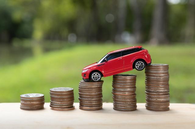 Saving-money-for-car-or-trade-car-for-cash-finance-concept
