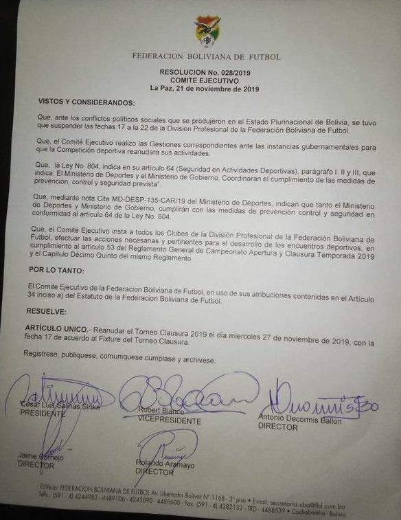 El-Torneo-Clausura-se-reanuda-el-27-de-noviembre