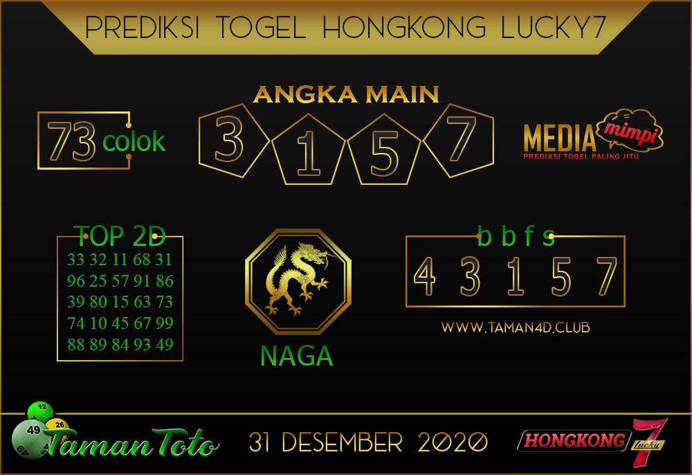 Prediksi Togel HONGKONG LUCKY 7 TAMAN TOTO 31 DESEMBER 2020