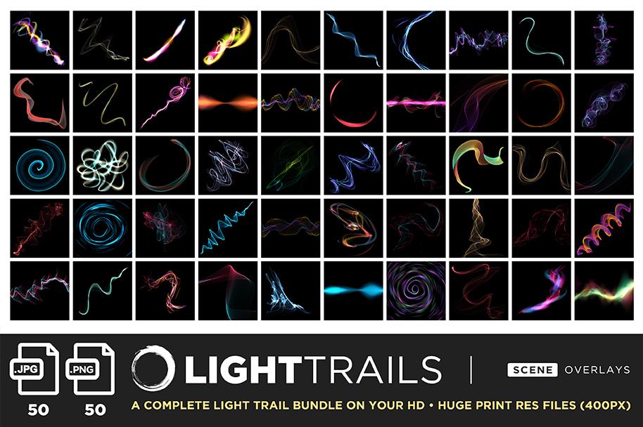 ultimate light fx bundle overlays light trails