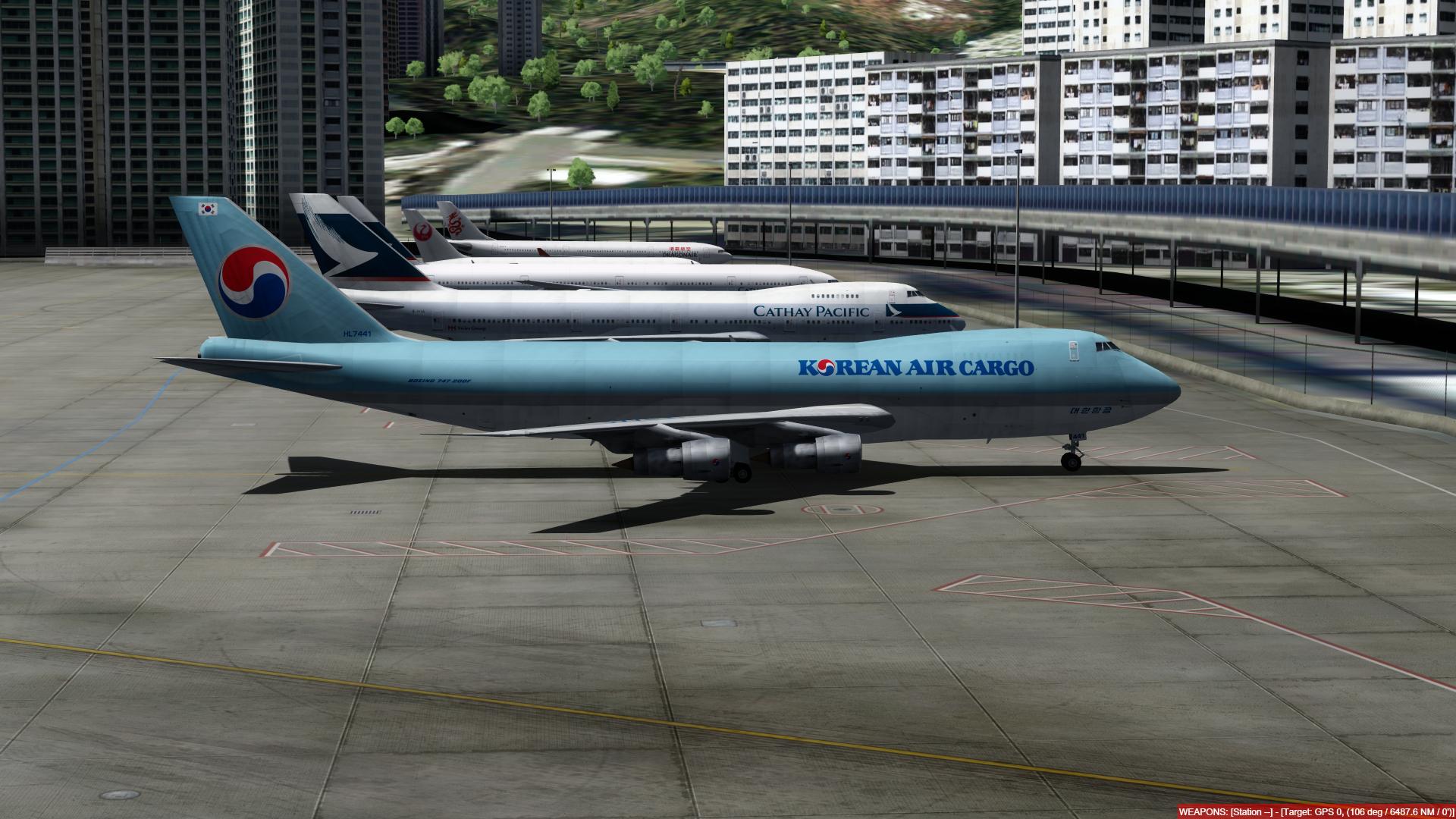 aeroporto - O dia a dia em Hong Kong Kai Tak - O aeroporto mais emocionante do mundo! P3D V4.4 - Só trafego AI. Captura-de-Tela-238