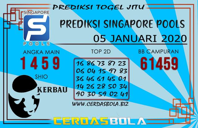 Prediksi Togel SINGAPORE CERDASBOLA 05 JANUARI 2020