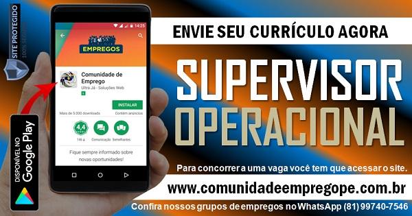 SUPERVISOR OPERACIONAL COM SALÁRIO R$ 1200,00 PARA EMPRESA DE SERVIÇOS
