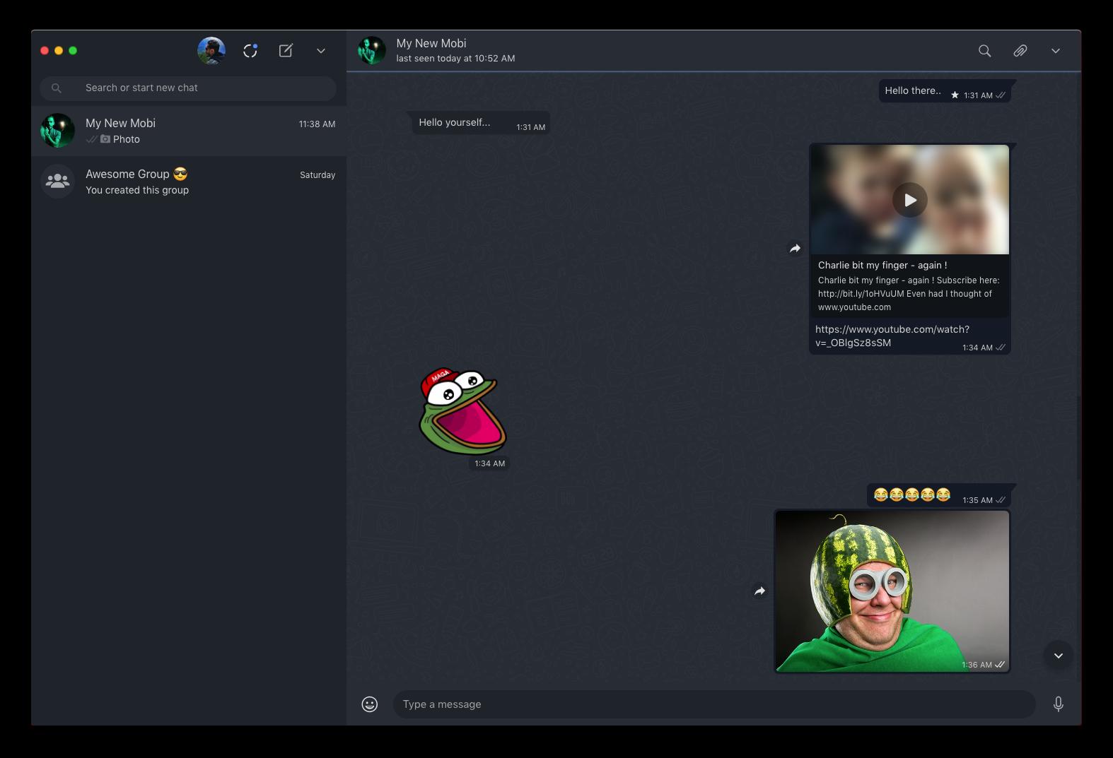 WhatsApp Desktop Dark Mode Mac