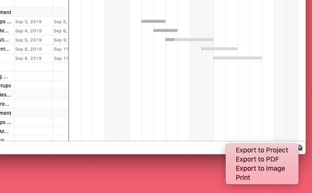 Print GANTT chart - Image 1.