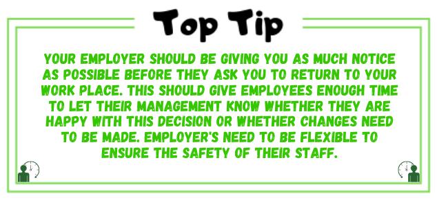 work notice tip