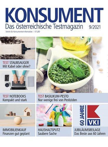 Cover: Konsument Das Österreichische Testmagazin No 09 2021