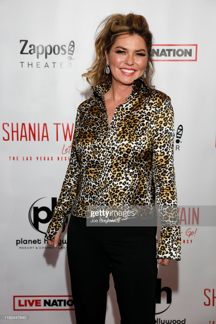 LAS-VEGAS-NEVADA-DECEMBER-06-Shania-Twain-appears-on-the-red-carpet-following-the-grand-opening-of-S