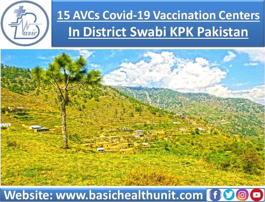 15 AVCs Covid-19 Vaccination Centers In District Swabi KPK Pakistan