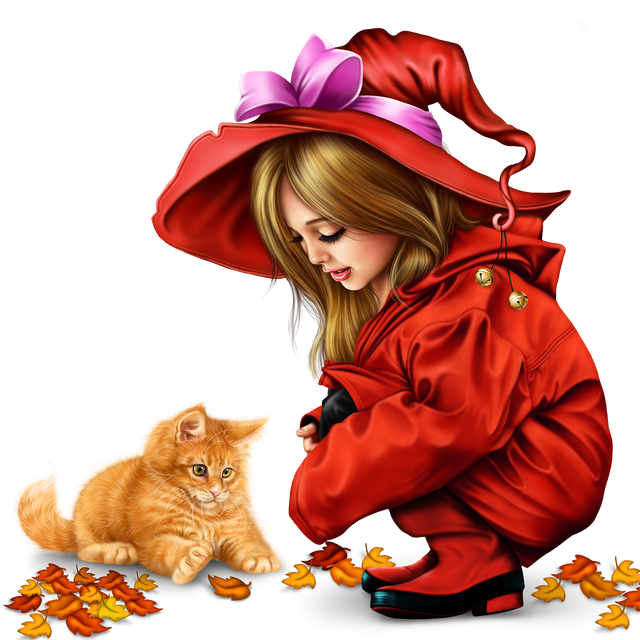 little girl in raincoat with a kitty png 32802d560788a84558.png