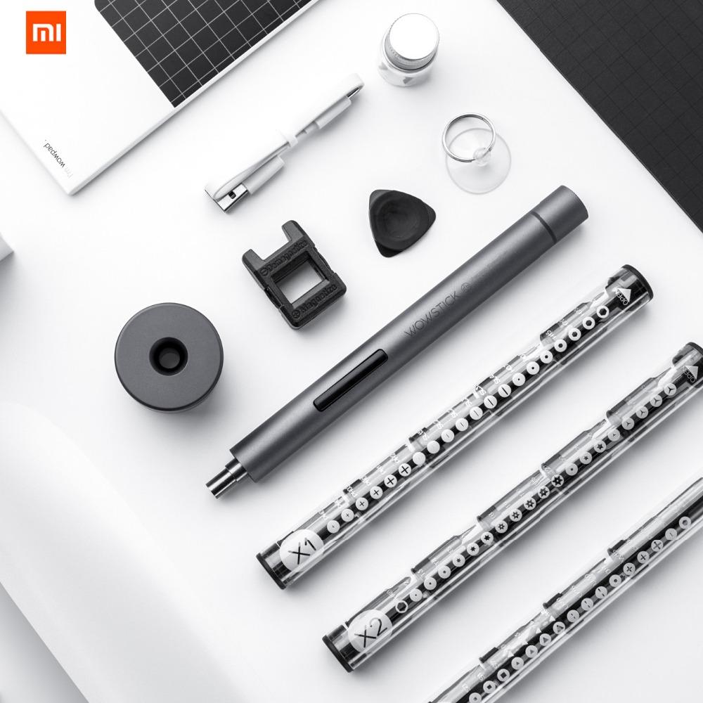 2019 Xiaomi WowStick 1F Pro Electric Screwdriver Mini Alloy Body 3 LED Lithium