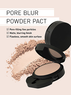 Pressed finishing powder fills and smoothes porees for a perfectly soft-matte complexion.