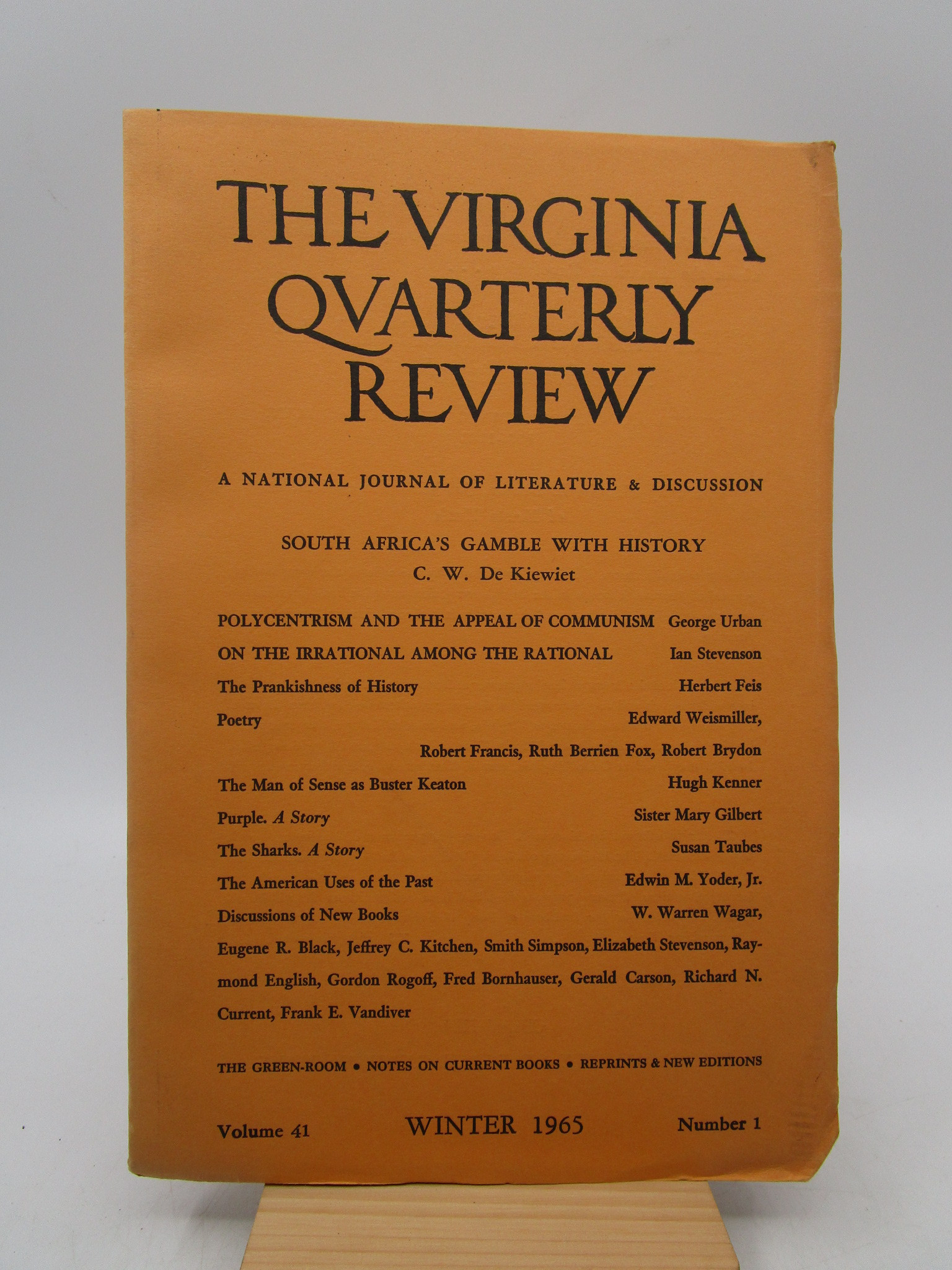 Image for Virginia Quarterly Review Summer 1968 Volume 44 Number 3