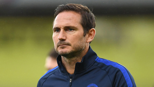 LONDON-ENGLAND-JULY-07-Frank-Lampard-Manager-of-Chelsea-looks-on-whilst-leaving-the-pitch-following