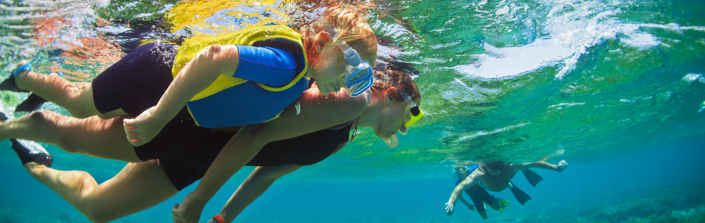 snorkling in the Bahamas