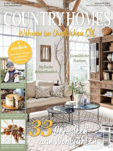 Cover: Country Homes Magazin September-Oktober No 05 2021