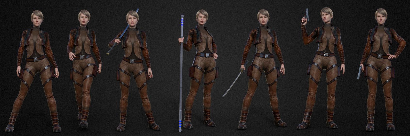 f CG galactic adventure short character lineup