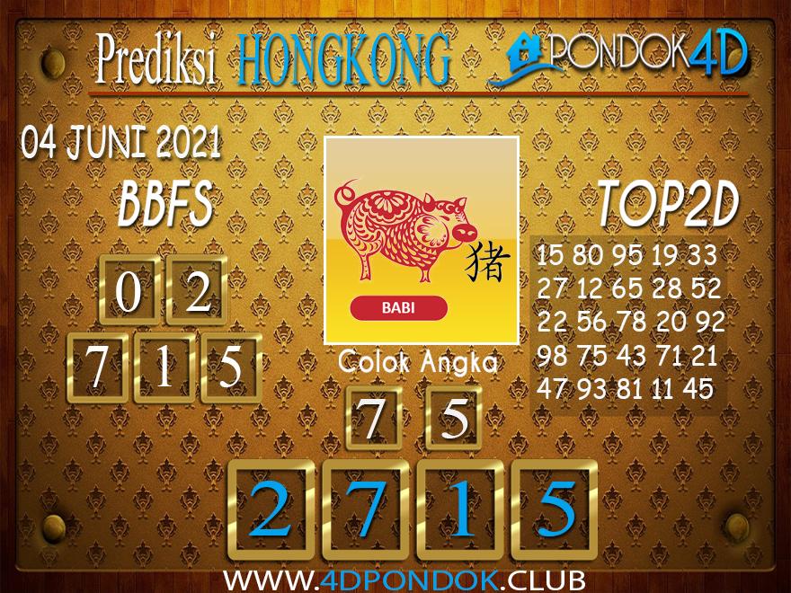 Prediksi Togel HONGKONG PONDOK4D 04 JUNI 2021