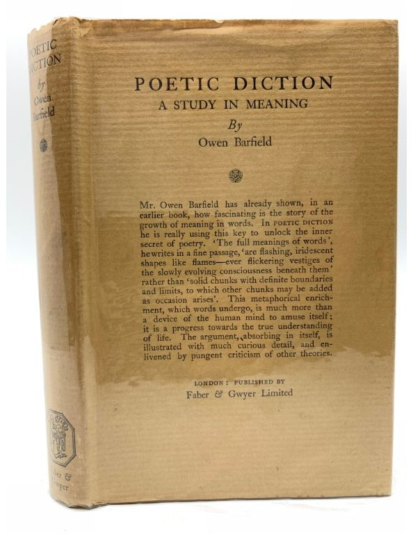 Image for Poetic Diction; A Study in Meaning (A gift from C S Lewis)