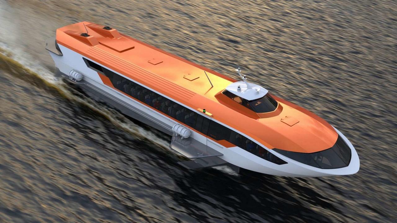 В Нижегородской области спустили на воду судно «Метеор 120Р» на подводных крыльях.