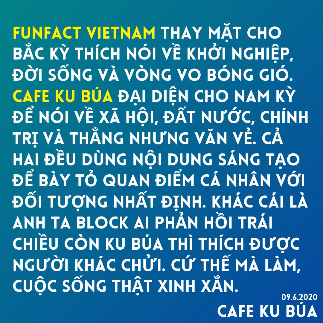 CAFE KU BÚA VÀ FUNFACT VIETNAM – MARKETING XUNG ĐỘT
