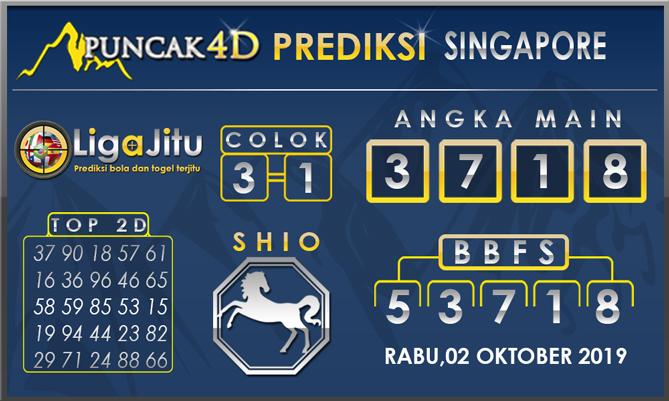 PREDIKSI TOGEL SINGAPORE PUNCAK4D 02 OKTOBER 2019