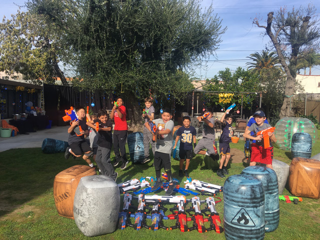 Nerf Birthday Party with Nerf Rivals in Los Angeles