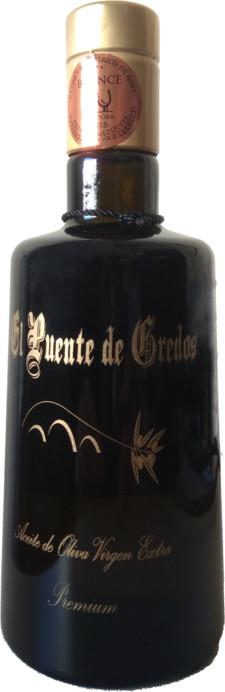 """aceite de oliva virgen extra, botella 500ml, Cooperativa de cosecheros de Aceitunas """"El Puente"""", premios mezquita, mezquita de bronce"""