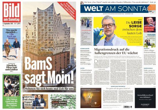 Cover: Bild und Welt am Sonntag No 36 vom 05  September 2021