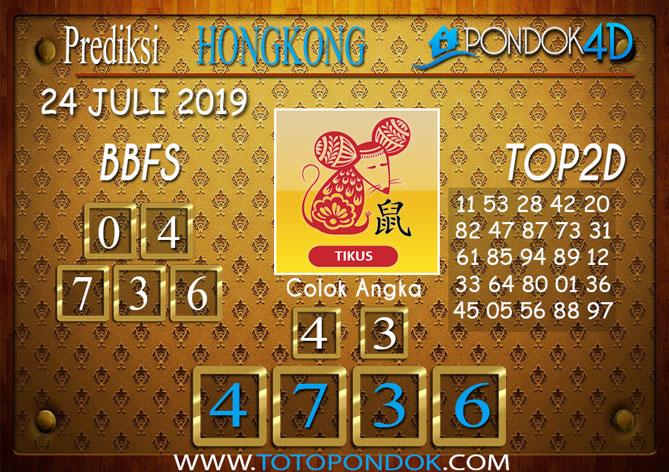 Prediksi Togel HONGKONG PONDOK4D 24 JULI 2019