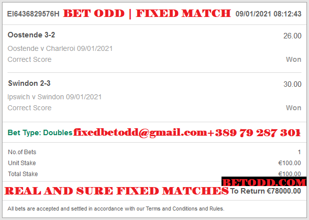 Official CORRECT SCORE FIXED MATCHES