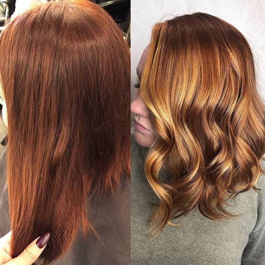 Brown Highlights-strawberry-styled-hair
