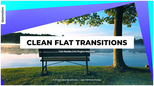 Clean Flat Transitions 33296185 - Project for After Effects (Videohive)
