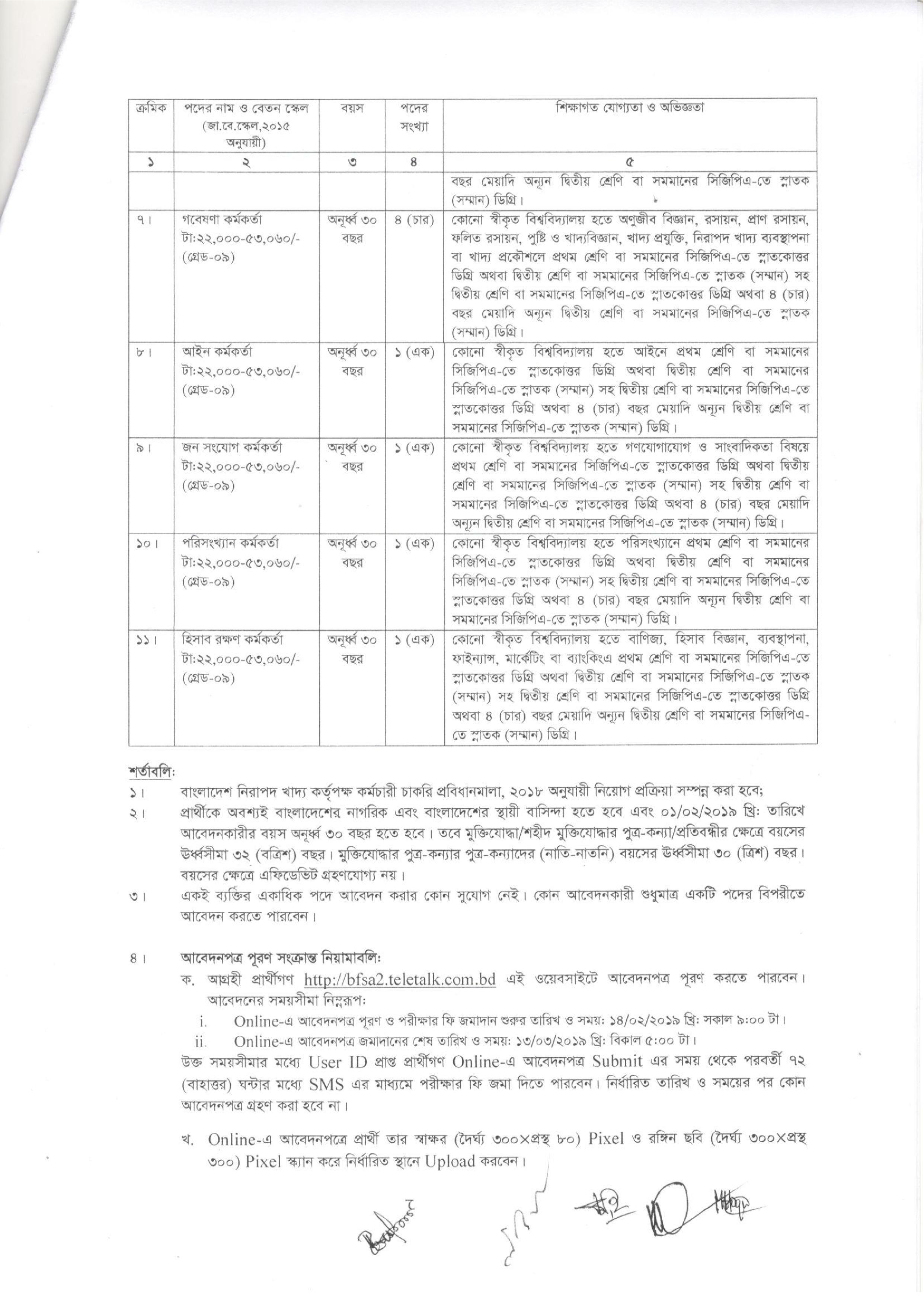 Bangladesh Food Safety Authority Job Circular 2019, Bangladesh Nirapad Khaddo Kortripokkho Chakri, BFSA Recruitment, বাংলাদেশ নিরাপদ খাদ্য কর্তৃপক্ষ নিয়োগ বিজ্ঞপ্তি