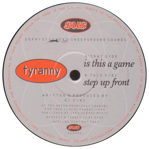 Download Tyranny - Is This A Game / Step Up Front mp3