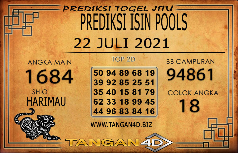 PREDIKSI TOGEL ISIN TANGAN4D 22 JULI 2021