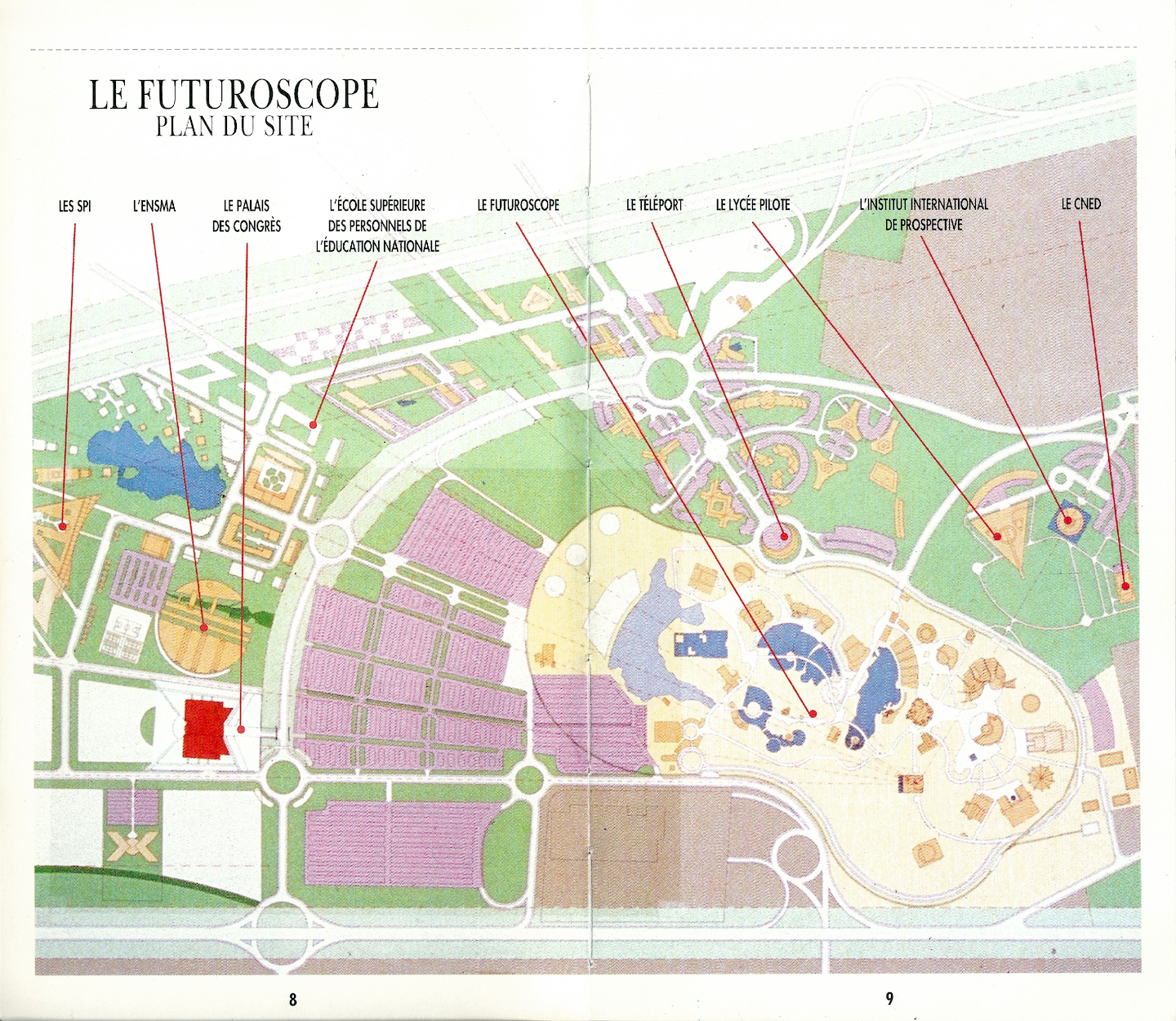 Parc aquatique indoor « Aquascope » · 2024 - Page 4 Futuroscope-plan-masse-1996