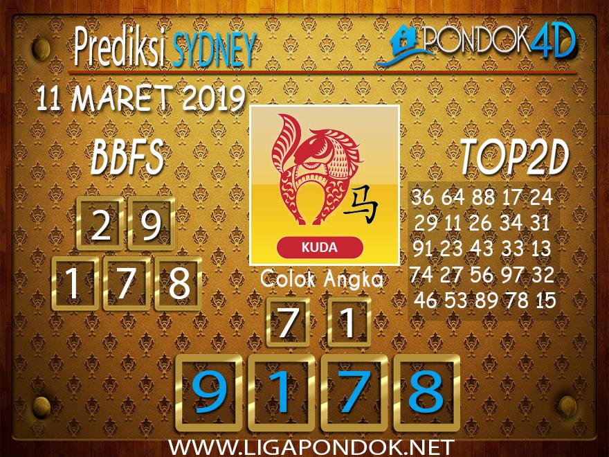 Prediksi Togel  SYDNEY  PONDOK4D 11 MARET 2019