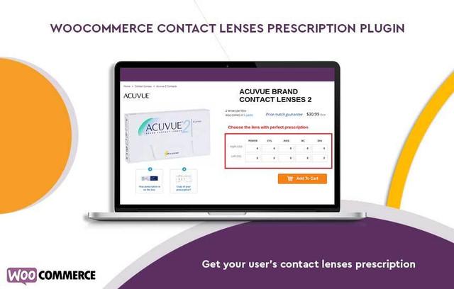 contact lens prescription plugin