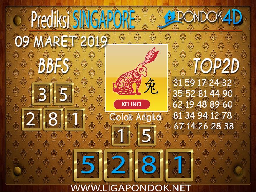 Prediksi Togel SINGAPORE  PONDOK4D 09 MARET 2019