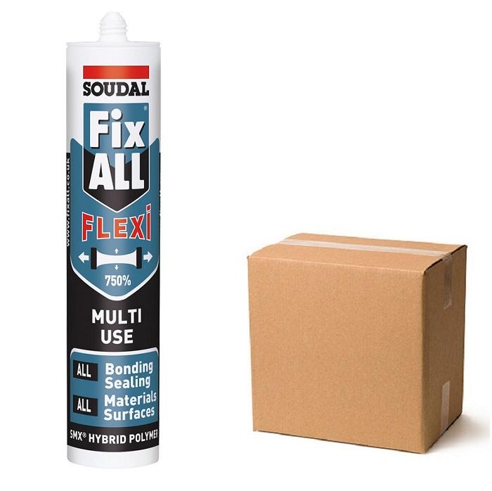 Soudal-Fix-All-Flexi-Hybrid-Polymer-White-Sealant-Adhesive-Box-of-12
