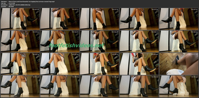 Store-of-Sexy-and-Great-brunette-Toe-tapping-from-nervuse-crossed-legs-mp4