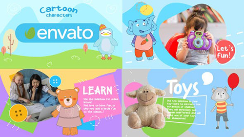 Cartoon Characters Slideshow || After Effects 33506001 - Project for After Effects (Videohive)