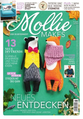 Cover: Mollie Makes Magazin No 09 September 2021
