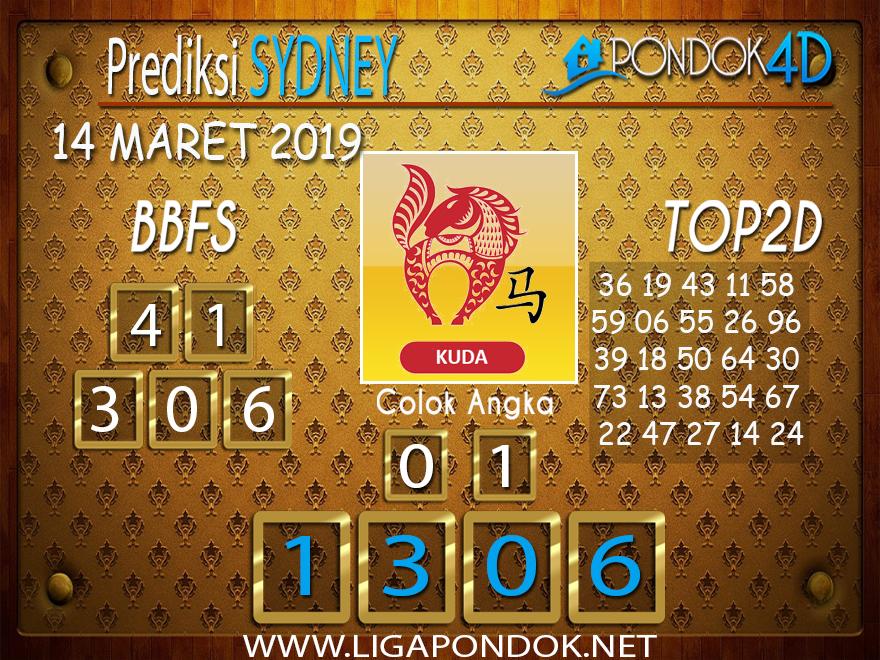 Prediksi Togel  SYDNEY  PONDOK4D 14 MARET 2019